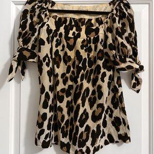 Nanette Lepore Leopard Print Blouse